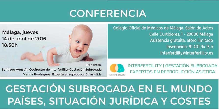 Conferencia gestación subrogada Málaga